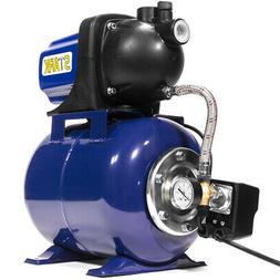 1.6 HP Shallow Jet Water Well Pump With Tank Garden Sprinkle