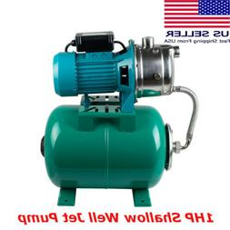 Commercial Household Shallow Well Jet Pump 1HP Hose 750W wit