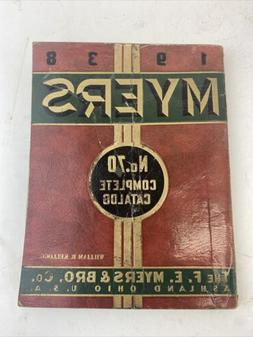 1938 F. E. MYERS POWER PUMPS CATALOG No-70 Ashland OH Good C