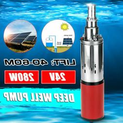 280W DC 24V 40-60m Submersible Water Pump Solar Deep Well Pu