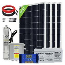 3'' Solar Bore Water Pump Deep Well Submersible Complete Kit