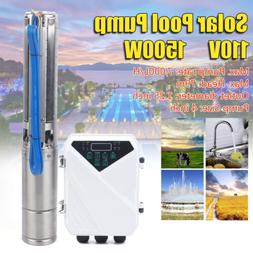 "4""DC Deep Well Solar Water Bore Pump Kits 110V 2.0HP Irrigat"