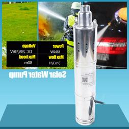 Brand New 24V 80m Head Solar Powered Submersible Bore Hole D