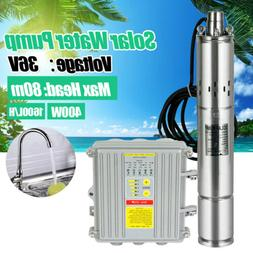 DC Solar Deep Well 36V Submersible Water Pump Stainless Stee