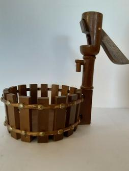 Decorative Wooden Well Pump