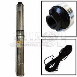 """Deep Well Submersible Pump, 4"""" 2 HP, 220V, 35 GPM, 400 ft Ma"""