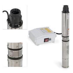 ARKSEN Deep Well Submersible Pump + Control Box, 1 HP, 110v,