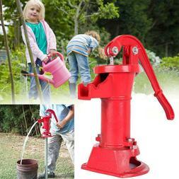Hand Pump Cast Iron Well Water Pitcher Press Suction Outdoor