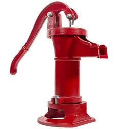 Hand Water Pump Well Pitcher Cast Iron Press Suction Outdoor