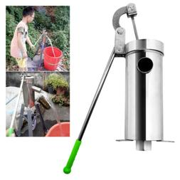 Hand Water Pump Well Pitcher Stainless Press Suction Outdoor
