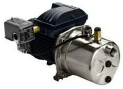 JP4-61ASI Stainless Steel Shallow Well Jet Pump, 1 HP, 115/2