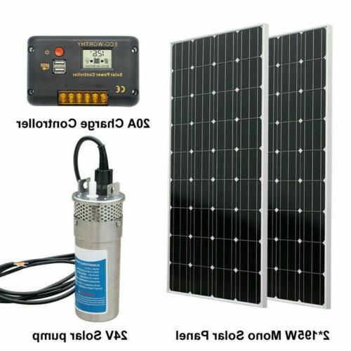 2 195w mono solar panel 24v deep