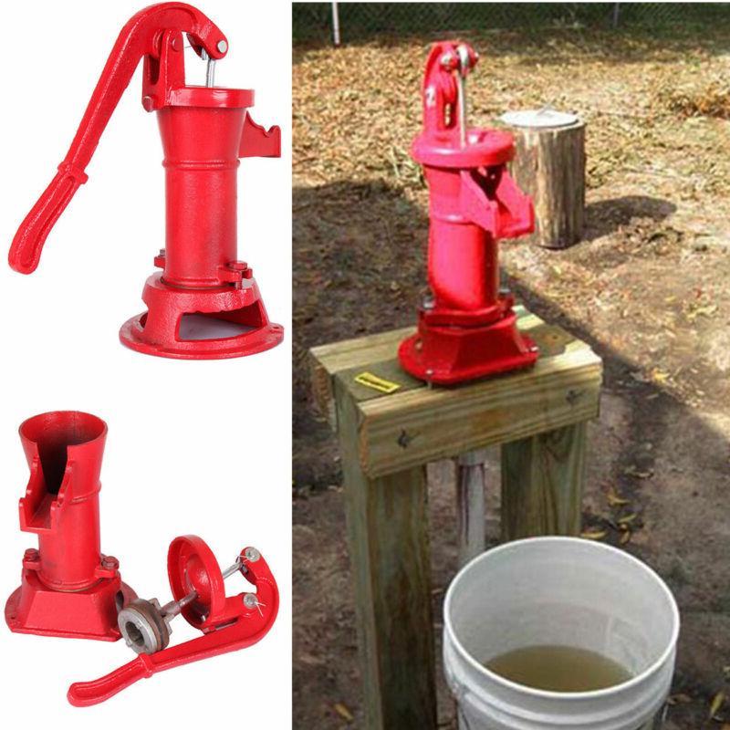 hand water shallow well pump pitcher cast
