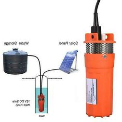 New DC 12V Submersible Deep Solar Well Water Pump Battery Al