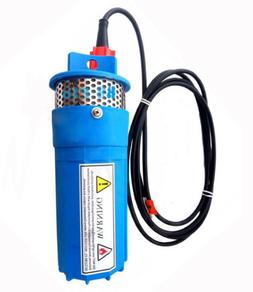 New DC 24V Blue 230FT+Lift Solar Submersible Deep Well Water