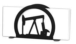 SWEN Products OIL WELL RIG DERRICK PUMP Black Metal Letter N