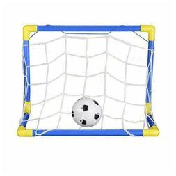 Outdoor Mini Folding Football Soccer Ball Goal Post Net Kids