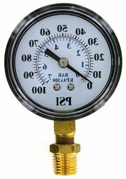 Pressure Gauge Well Pump Use with Submersible and Jet Pumps