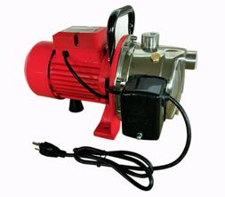 Shallow Well Jet Pump w/Pressure Switch, 3/4HP 14GPM, Stainl