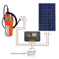 Solar Pump System Kits:100W Solar Panel + 12V Deep Well Wate