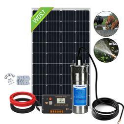 Solar Pump System Kits:Solar Panel + Stainless Steel 12V Dee