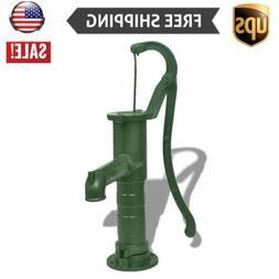 USA Hand Pump Cast Iron Outdoor Yard Pond Well Water Pitcher