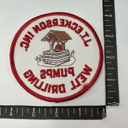 Vtg J.T. ECKERSON INC. PUMPS WELL DRILLING Advertising Patch