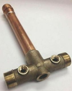 """Water Source 705SB 1"""" X 10"""" Brass Well Water Pump Tank Tee L"""