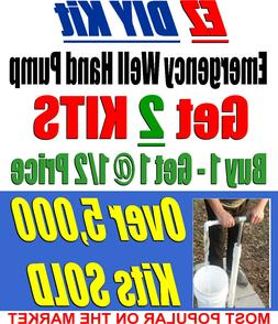 Well Hand Pump For DEEP WATER WELL, Emergency, Manual 150'..